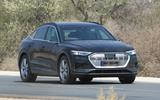 Audi e-tron Sportback spyshot front