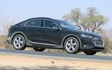 Audi e-tron Sportback spyshot side front