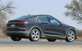 Audi e-tron Sportback spyshot side rear