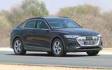 Audi e-tron Sportback spyshot front side