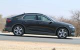 Audi e-tron Sportback spyshot side on