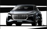 Audi Q4 e-tron sketches official - front end