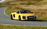 Audi R8 Spyder cornering