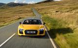 Audi R8 Spyder on the road