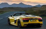 Audi R8 Spyder rear quarter