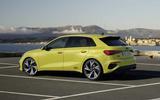 2020 Audi S3 hatchback rear