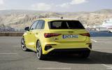 2020 Audi S3 hatchback - rear