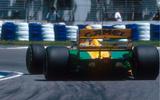 Michael Schumacher in the 1992 Australian GP driving a Benetton B192