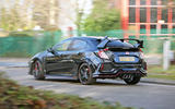 Honda Civic Type R longterm review on the road rear