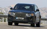 Bentley Bentayga facelift prototype spy shot - front