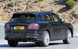 Bentley Bentayga facelift prototype spy shot - rear
