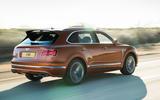 Bentley Bentayga Speed rear three quarters motion