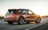 Bentley Bentayga Speed rear three quarters static