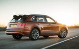 Bentley Bentayga Speed rear three quarters static