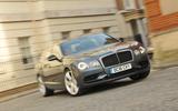 Bentley Flying Spur V8S cornering
