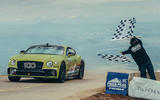 Bentley Continental GT pikes peak 2019 record holder - hero