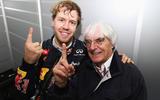 Bernie with Vettel