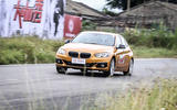 BMW 1 Series Saloon on the road