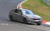 BMW 3-series Touring Nurburgring testing