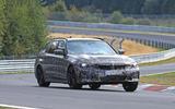 BMW 3-series Touring Nurburgring testing right front
