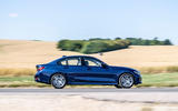 BMW 318d side profile on the road