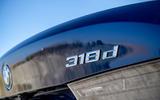 BMW 318d rear badge
