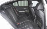 2019 BMW 330d UK review - rear seats