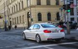 BMW 330e in town