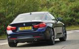BMW 440i rear cornering