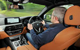 Steve Huntingford driving the BMW 5 Series