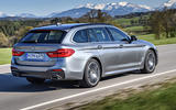 BMW 530d Touring rear cornering