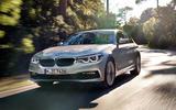 BMW 530e Performance cornering