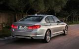 BMW 530e Performance rear end