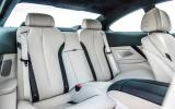 BMW 650i rear seats