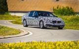 BMW 740iL prototype cornering