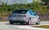 BMW 740iL prototype rear cornering