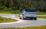 BMW 7 Series prototype rear cornering