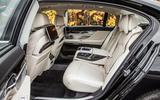 BMW 740 Le xDrive rear seats
