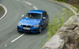 Used BMW M135i hard cornering