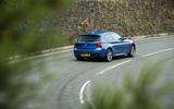 Used BMW M135i rear hard cornering