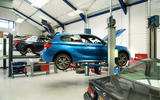 Used BMW M135i up on the ramps