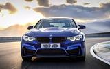 BMW M4 CS cornering