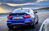 BMW M4 CS rear cornering