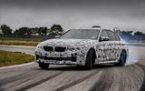 2018 BMW M5 Prototype Wheel Spin Track