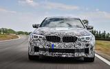 2018 BMW M5 Prototype Front Track