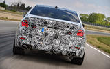 2018 BMW M5 Prototype Rear Track