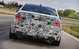 2018 BMW M5 Prototype Rear Track