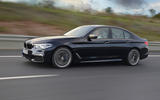 BMW M550i on the road