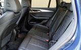 BMW X3 rear seats