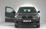 BMW X3 studio shoot - front